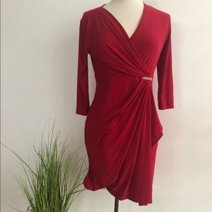 Emma and Michelle red wrap dress💋!